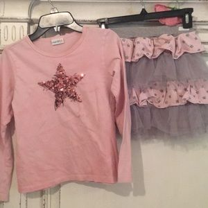 Girls shirt and skirt set